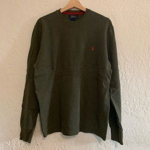 Polo Ralph Lauren Army Green L/S Sweater Large